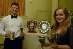 Jeremy-Hawke-and-his-daughter-Georgina-with-their-trophies-and-awards-from-the-2012-South-West-Centre-season
