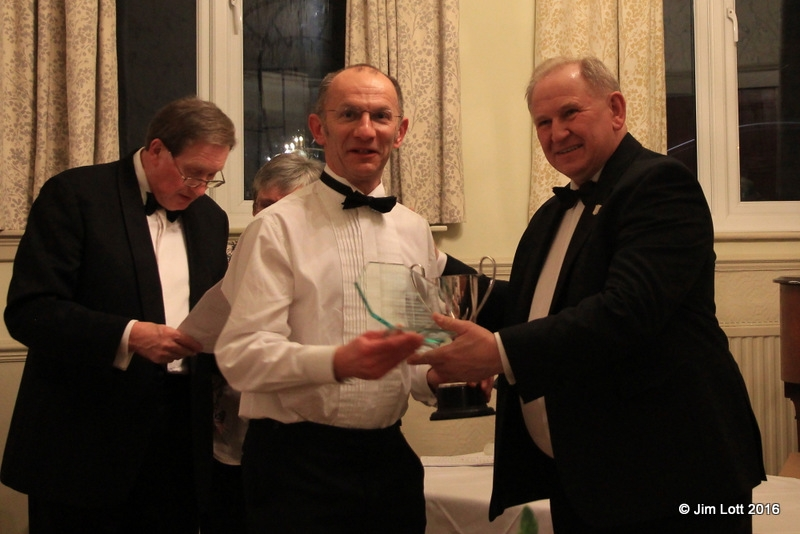 John Delefield being presented with the SW centre Club Cup for being best MG overall at the 2 MGs On Grss Events.