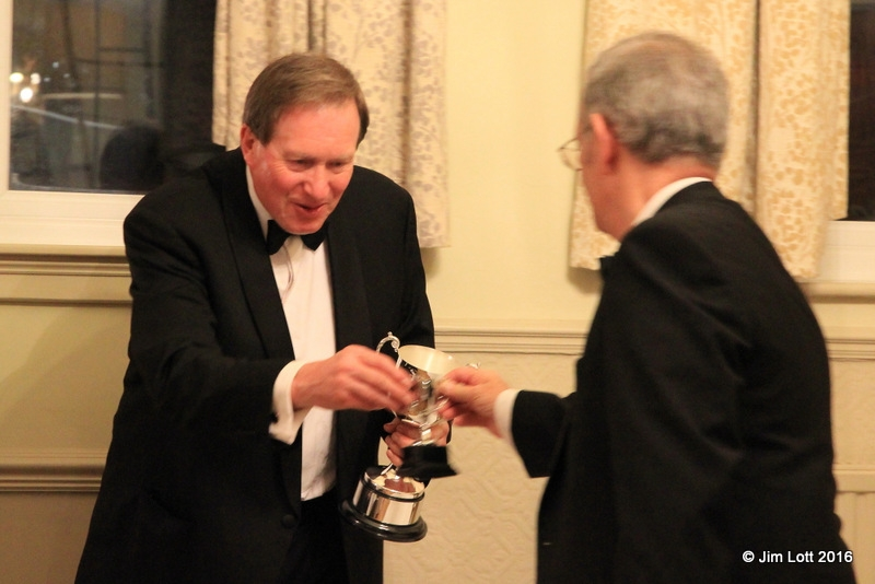 Andrew Owst, the innugural winner of the MG car Club SW Centre 'Chairmans Challenge Cup'. This is awarded to the person who has contributed most to the event organisation.