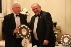 Rob Orford recieving the Chapmpionship Class 4 (MG B) shield. Rob also won the Wessex Trophy for fastest MG at the Hulavington Wessex Sprint.
