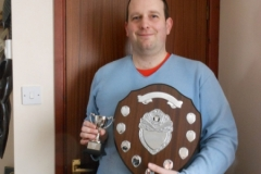 Simon Lott with the Marshals Trophy