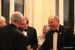 Ian Quarrington sharing a joke with Steve Luscombe and Mike Cole about their joint win.