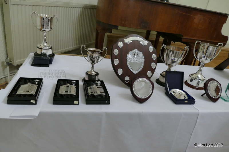 The trophies laid out before the dinner