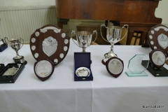 The trophies laid out before the dinner 2