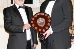 Julian White presenting Ian Beningfield with Driver Championship Class 3 shield