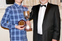 Julian White presenting Oliver Lock with the Mike Hawke Trophy for the most promising young driver