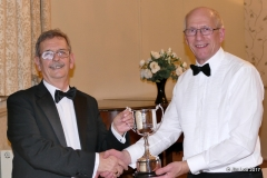 Jim Lott presenting Mike Angwin with the Chairman's Challenge Cup