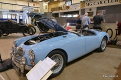David Speak's 1959 MGA 1600 finished in Iris Blue. This car won the best Classic Sports or Convertible class at the 2016 Bristol Classic Car Show.