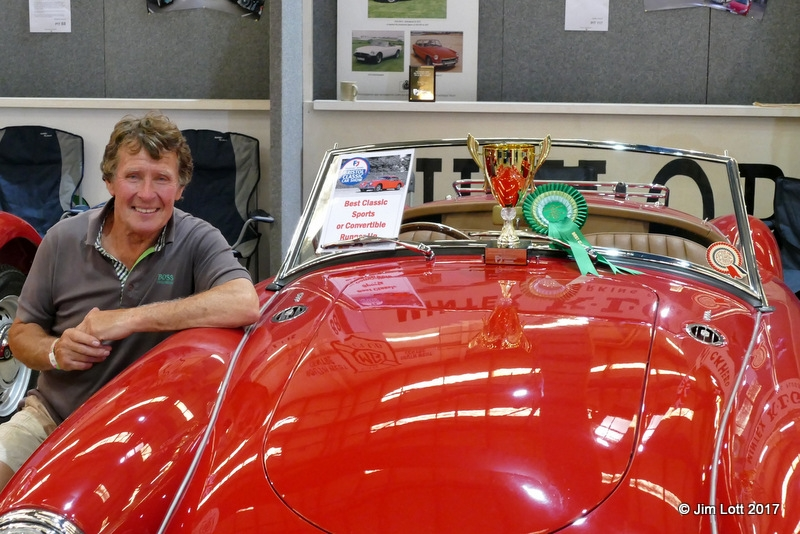 Kingsley Beck's MGA won the runner up in the Best Sports or Convertible category