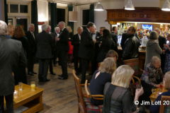 The gathering in the bar before the meal