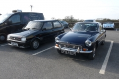 My Metro Turbo alongside Edward Kirklands's MGB GT