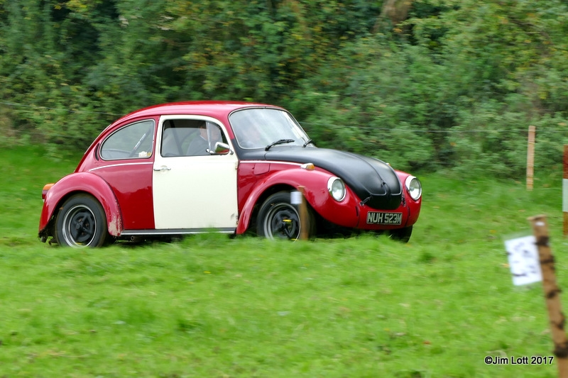 Paul Dickinson from the Classic and Historic Motor Club in his VW Beetle on Test 4