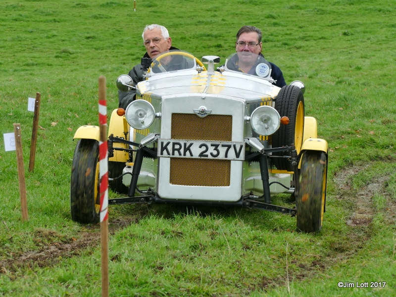 Roger Metters from the Classic and Historic Motor Club in his Morris Marina Special.
