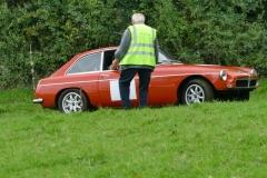 Neil Lock, MGB GT with Gerald Burridge marshalling