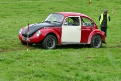 Paul Dickinson, VW Beetle on test 3 with Alan Spencer, marshalling.