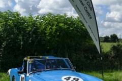 The MGCC SW Centre flag flying over Nicky Dear's midget