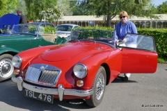 Mary Billingham's MGA with Sue Jarvis as her navigator