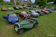 MG TF, MG PA (foreground), Jag XK120 Replica, Audi TT, MG TD, MGA and MG TD