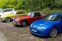 Left to right MGB GT, MGA, MG TF