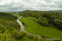 View looking straight up the Wye Valley